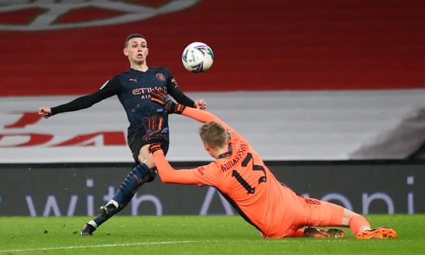 bbin联赛杯-热苏斯破荒 福登传射 曼城4-1淘汰阿森纳