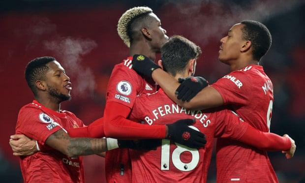 英超-马夏尔B费进球 曼联2-1主场3连胜追平榜首