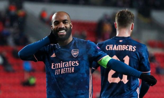 欧联杯-拉卡泽特双响 阿森纳4-0客胜总分5-1晋级