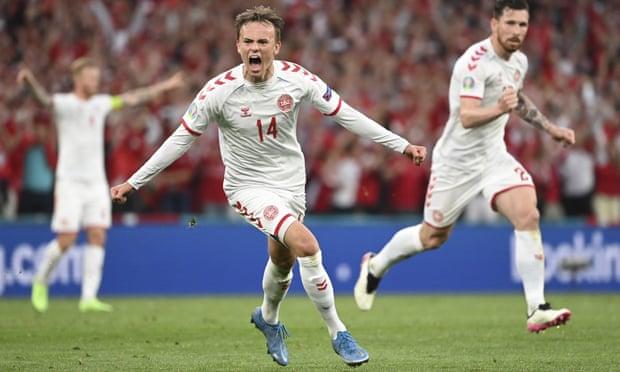 欧洲杯-热刺悍腰助攻双响 丹麦4-1大胜俄罗斯出线