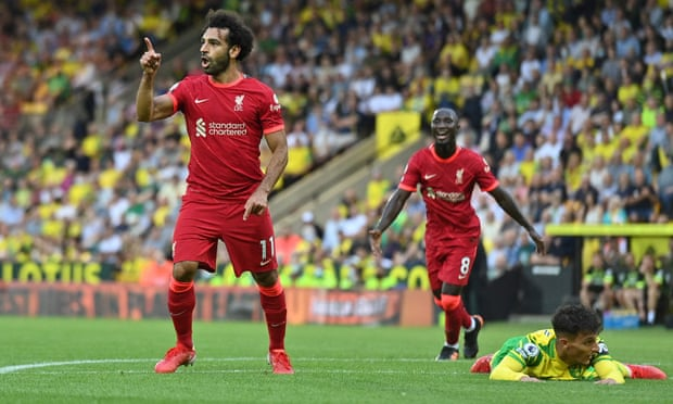 英超-萨拉赫传射 菲尔米诺8000球 利物浦3-0客胜