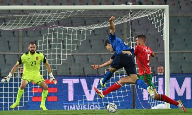 世预赛-基耶萨进球 意大利主场1-1憾平保加利亚