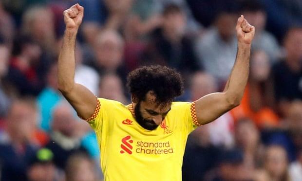英超-萨拉赫百球 若塔破门 利物浦3-3憾平升班马