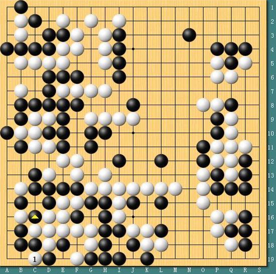 李世石和AlphaGo本局棋谱(李世石执黑)