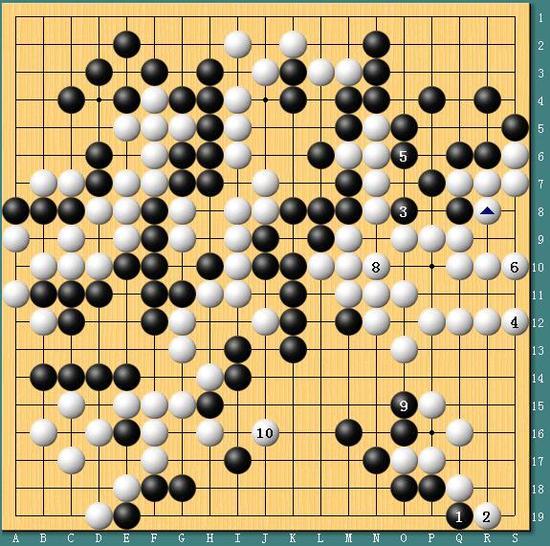 李世石与AlphaGo第四局棋谱(AlphaGo执黑)