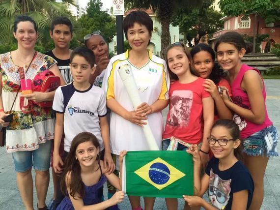 2016年6月8日在巴西的福塔萊薩,著名體育節目主持人寧辛代表中國圖片