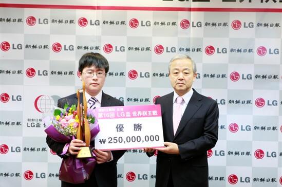 (江维杰获得LG杯冠军)