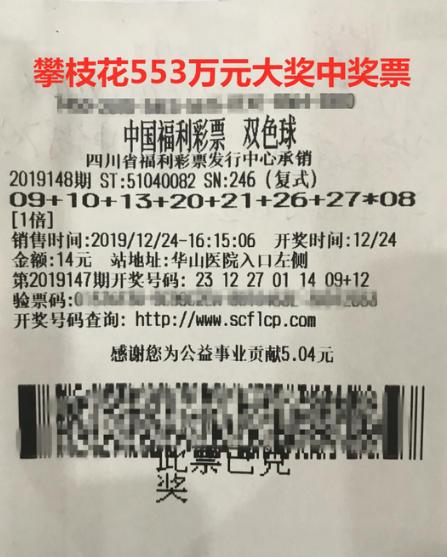 女彩民14元攬雙色球553萬 大叔10元機選擒604萬