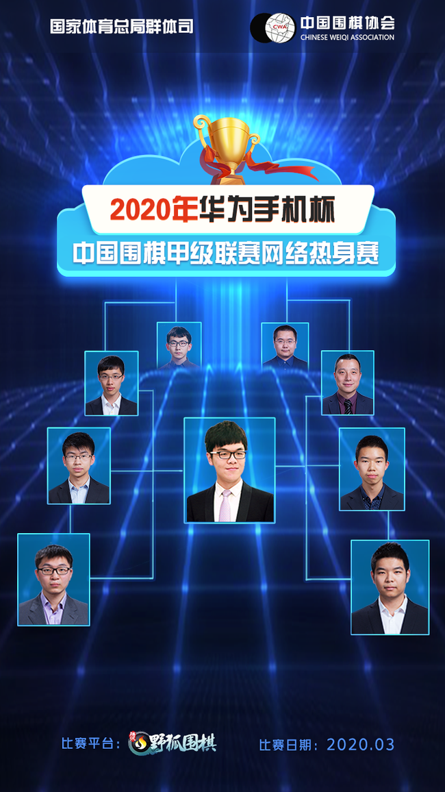 围甲热身赛第6轮对阵:连笑-江维杰 谢科-范廷钰