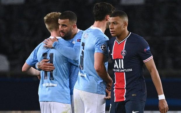 曼城2-1逆转巴黎