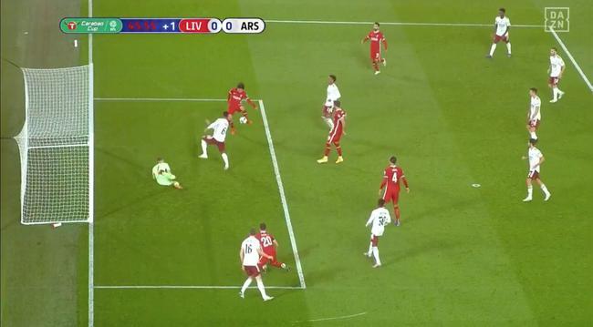 看呆!利物浦日本前锋太点背 1米空门竟打横梁|gif