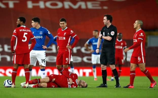 英超-J罗助攻 亨德森伤退 利物浦半场0-1落后