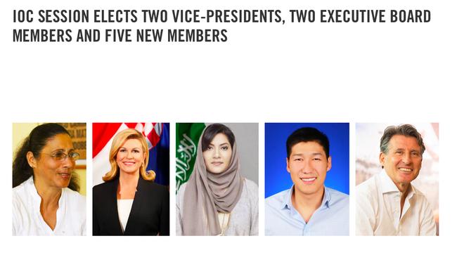 国际奥委会增增5名新委员。网络截图