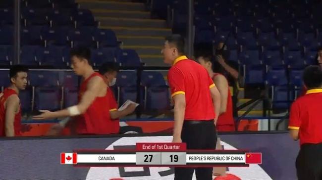 中国一度和加拿大17平 首节末被对手打出10-2