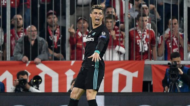 C罗不只有进球值得夸 他是皇马欧冠跑动最多之人