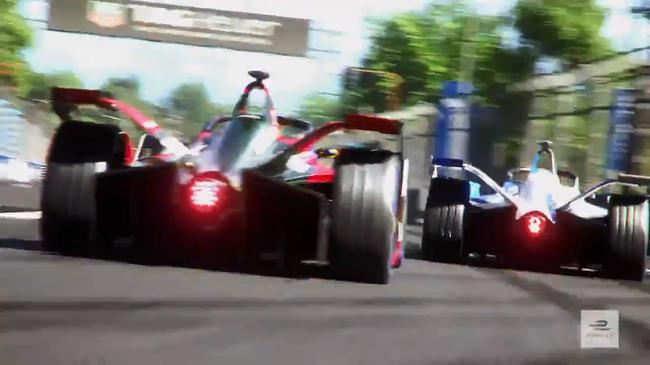 FE电动方程式二代赛车比赛模拟CG截屏