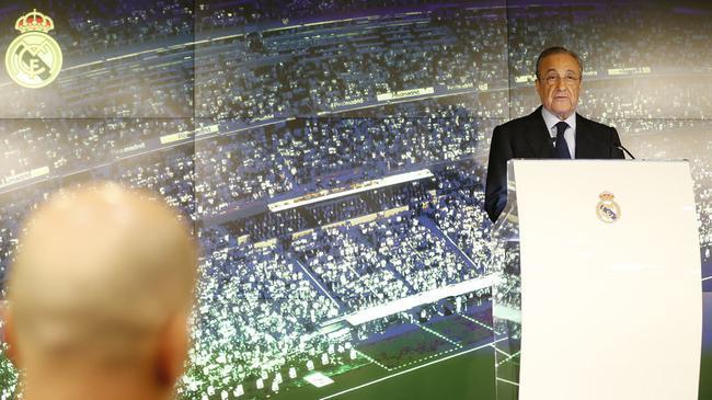 皇马主席欢迎齐达内:世界上最好的教练回来了