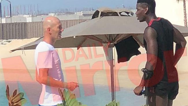 齐达内私会博格巴被媒体抓拍 皇马又一次买他?