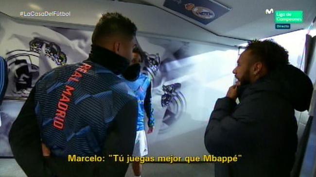 马塞洛当面夸赞内马尔:你踢得比姆巴佩更出色