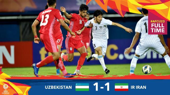 U23亚洲杯-伊朗手抛球战术奏效 1-1平卫冕冠军乌兹