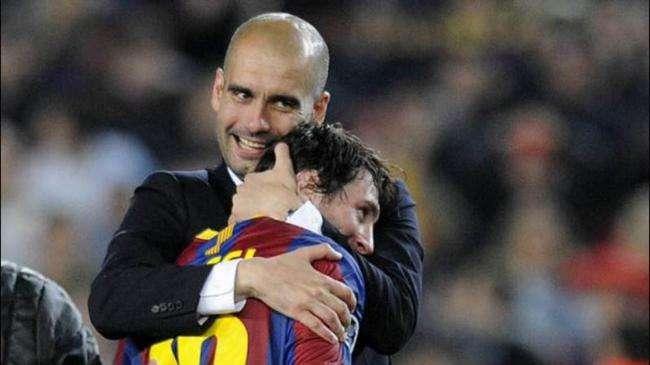 瓜迪奥拉:和梅西合作是荣幸 我也得向球员学习