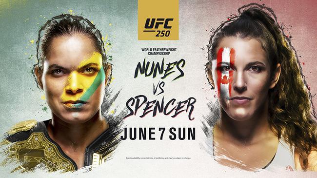 UFC 250:努涅斯 VS 斯宾瑟