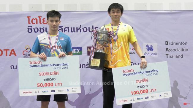 泰国全锦赛昆拉武特力克王高伦夺冠 猜万女单夺魁
