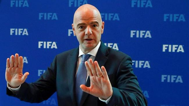 国际足联主席感染新冠 有轻微症状正在隔离