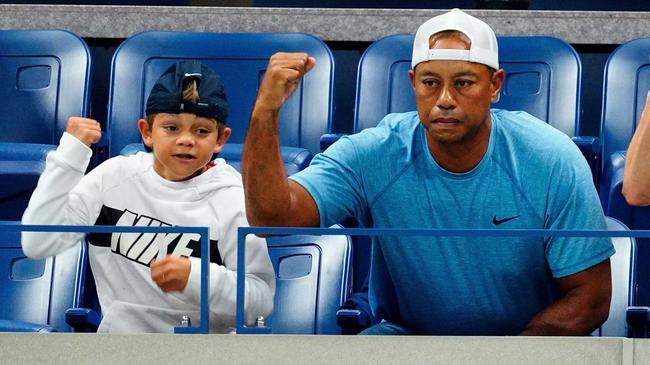 伍兹和儿子查理