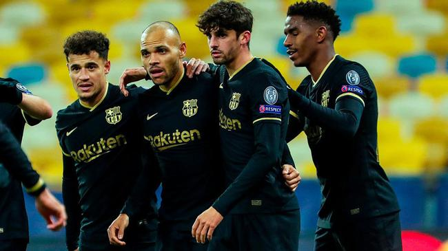 巴萨接连17赛季欧冠小组出线