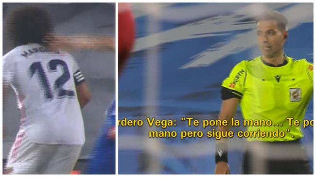 马塞洛向裁判抱怨被抓头发 主裁回:但你继续在跑