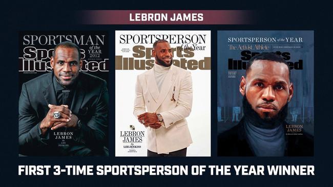 第三次!詹姆斯中选体育画报年度最佳运动员