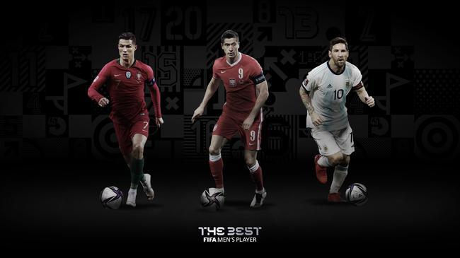 FIFA年度最佳球员三人候选:C罗、梅西、莱万