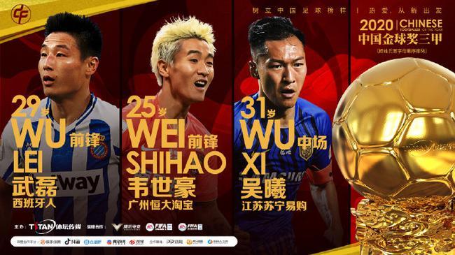 中国金球奖各项三人候选名单出炉 吴曦PK韦世豪