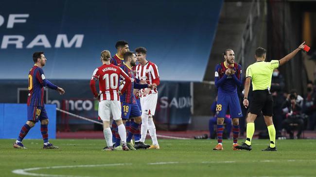 西甲转播商:对梅西出红牌的裁判 应该被停赛