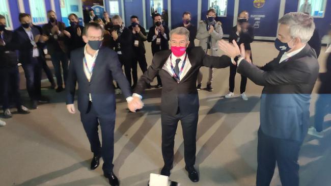巴萨选举结果出炉 拉波尔塔再次当选巴萨主席