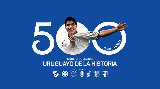 16年进500球 苏亚雷斯成现役第五位500球成员