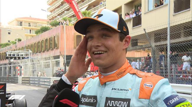 诺里斯追平生涯最佳:在摩纳哥登上领奖台是梦想
