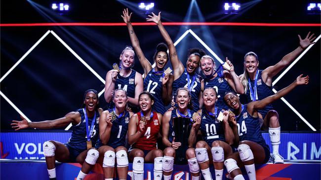 美国女排3-1逆袭巴西 涉险卫冕实现世联三连冠