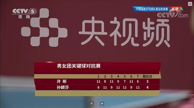 【博狗扑克】国乒男女关键球PK:樊振东3-4陈梦 许昕3-4孙颖莎
