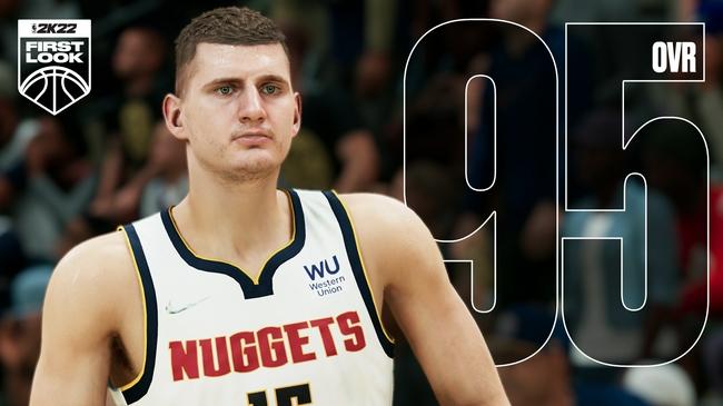 NBA2k22公布上赛季MVP约基奇初始能力值:95