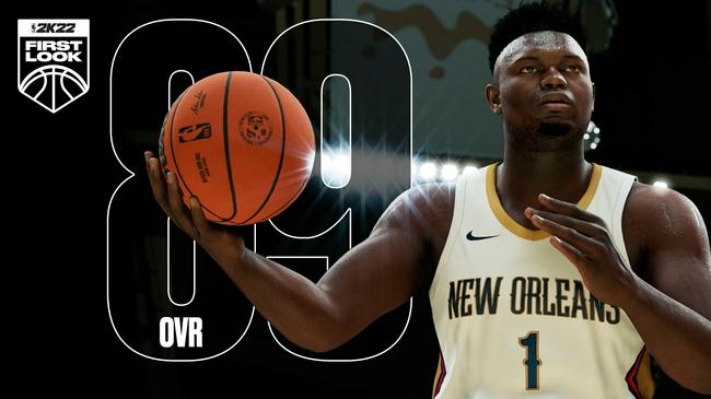 20岁入选全明星!锡安NBA2k22初始能力值为89