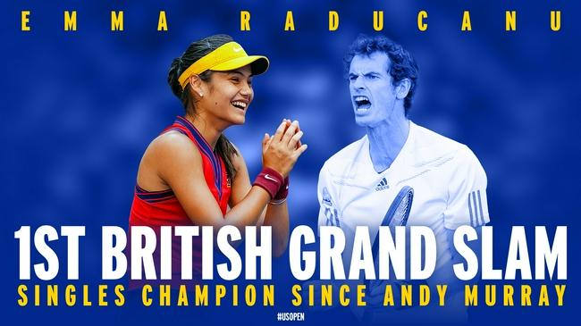 拉杜卡努成为自安迪-穆雷之后首位夺得大满贯单打冠军的英国球员