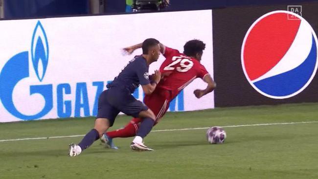 科曼运球杀进巴黎圣日耳曼雷区奥尔萨托回绝判罚点球