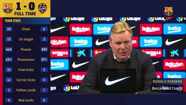 科曼:巴萨仍是西甲冠军竞争者 要相信自己的足球