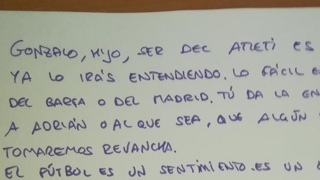 一位马竞球迷父亲给儿子的信