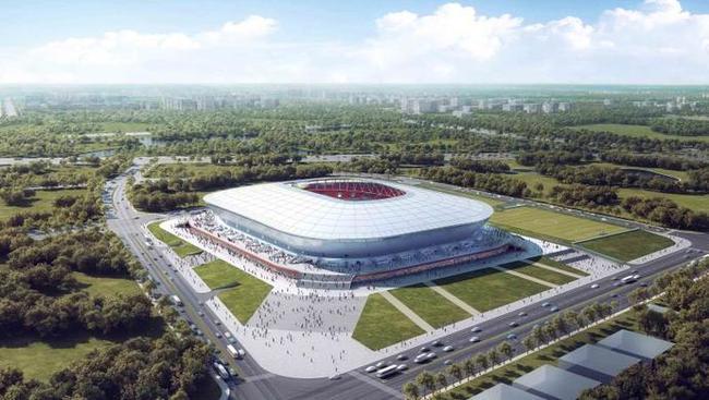 上港新主场年底就交付使用 白瓷碗将成上海新地标