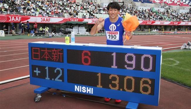 日本小将110栏飚13秒06! 他已能威胁到刘翔纪录