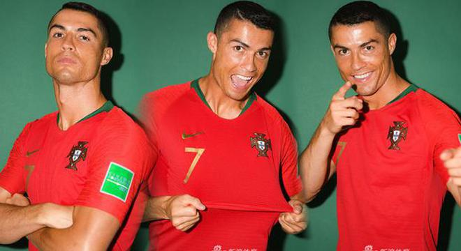 C罗领衔葡萄牙国家队拍摄官方写真