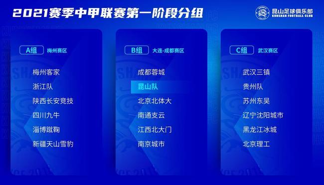 【博狗扑克】2021赛季中甲分组:三赛区激战 浙江梅州同组
